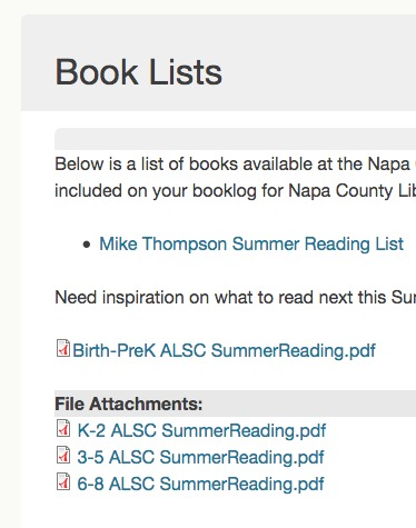 screenshot of Napa's website