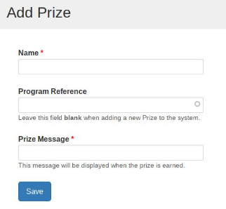 "image of ""Add Prize"" form"