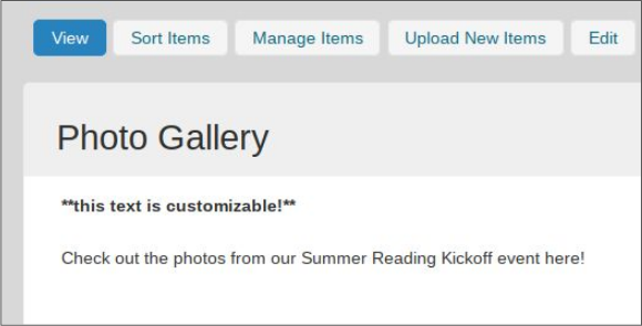 image of photo gallery header text