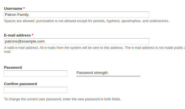 image of password-reset screen