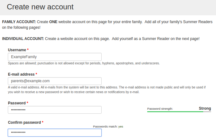 "image of ""Create New User"" form"