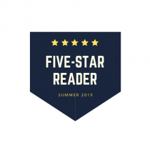 "Image of a star and the words ""Five star reader"""